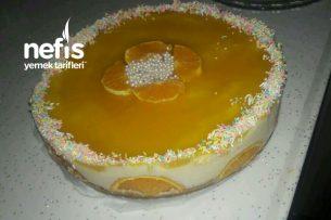 Portakallı Cheesecake (Yalancı) Tarifi