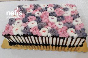 30 Kişilik Yaş Pasta Tarifi