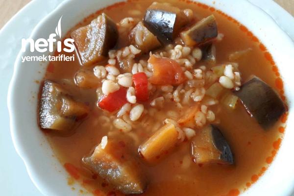 Patlıcanlı Bulgur Çorbası (Çok Kolay Çok Lezzetli) Tarifi