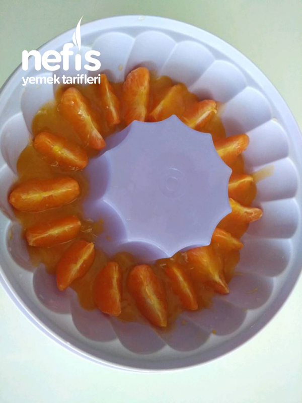 Portakallı Ve İrmikli Hafif Muhallebi Tatlısı
