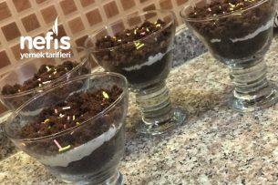 Pratik Çikolatalı Krema Dolgulu Cup Kek Tatlısı Tarifi