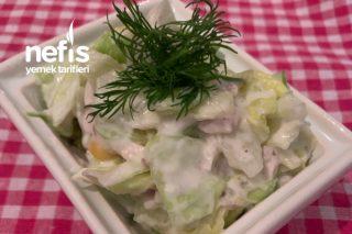 Yoğurtlu Tavuklu Göbek Salata Tarifi
