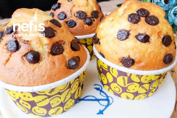 Çok Kabaran Muzlu Çikolatalı Pamuk Muffin ( Hazır Kek Tadında ) Tarifi