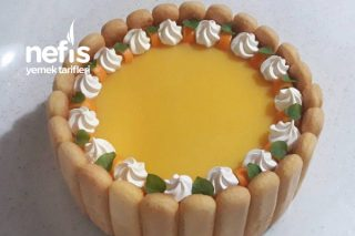 Kedidilli Portakallı Pasta (Kolay Pasta) Tarifi