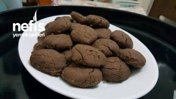 Pudingli-3 Malzemeli Kurabiye (çikolatalı)