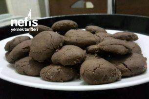 Pudingli-3 Malzemeli Kurabiye (Çikolatalı) Tarifi