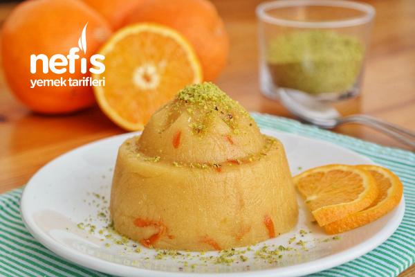 Portakallı İrmik Helvası (videolu)