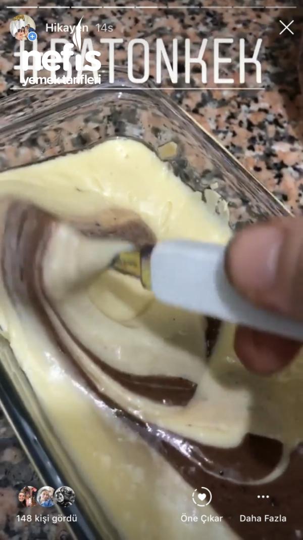 Bademli Çikolatalı İspanyol Kek
