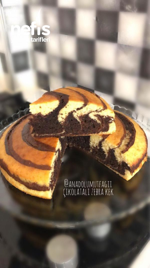 Çikolatalı Zebra Kek