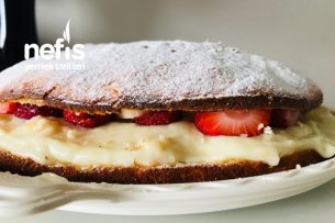 Çilekli Muzlu Alman Pastası Tarifi