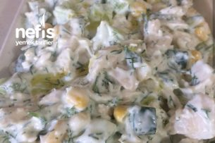 Tavuklu Yoğurt Salatası Tarifi