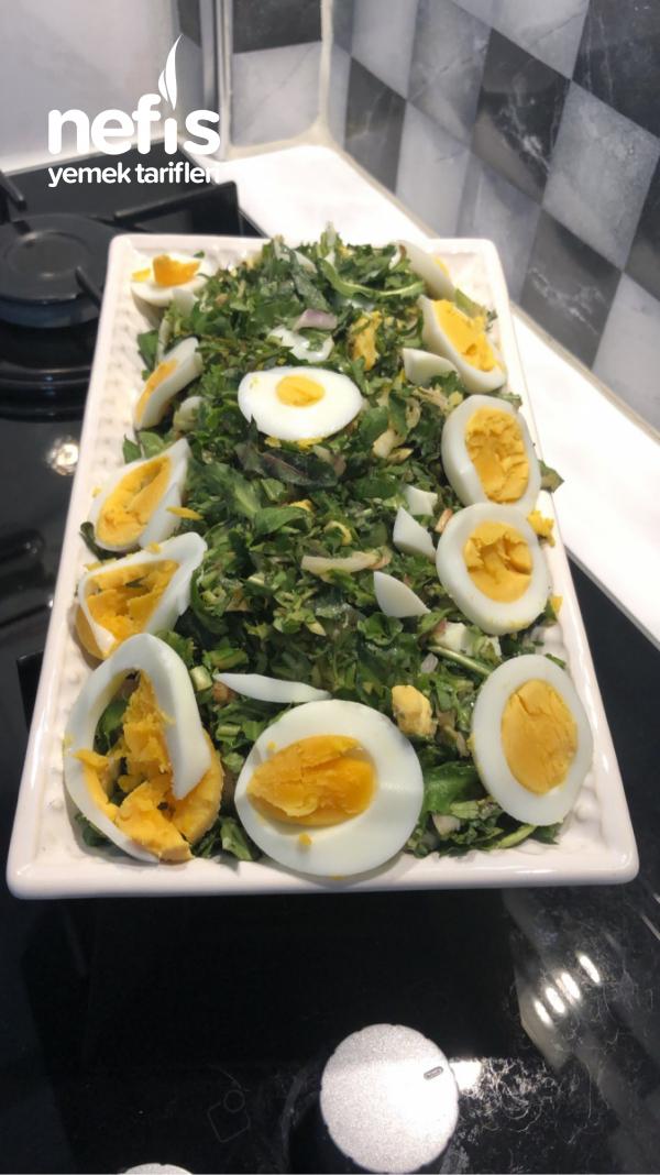 Yumurtalı Cacık Salatası