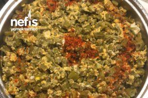 Yumurtalı Yeşil Fasulye Kavurması Tarifi
