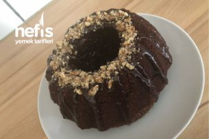 Cevizli Çikolata Soslu Kalıpta Kek Tarifi