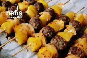 Çöp Şişte Köfte Patates Soğan (10 Dakikada Hazır) Tarifi