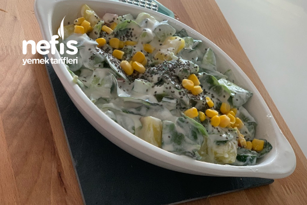 Semizotu Patatesli Salata Tarifi