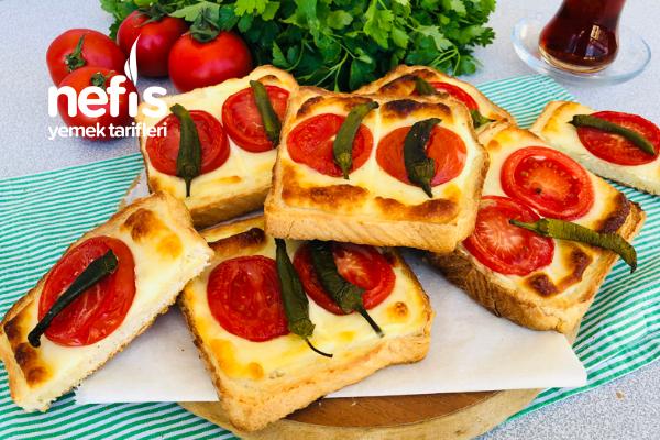 Labne Peynirli Ekmek Dilimleri Tarifi