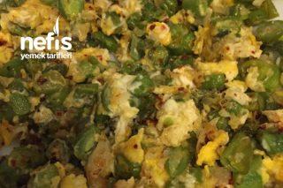 Yumurtalı Taze Fasulye Kavurma (Çok Pratik Ve Leziz) Tarifi