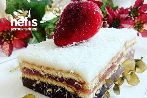 Bisküvili Gökkuşağı Pastası Tarifi