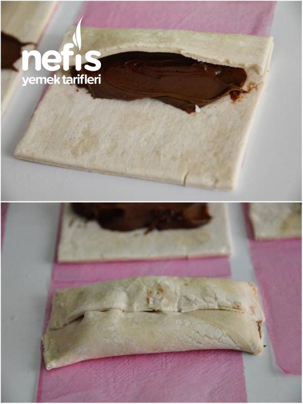 Çikolatalı Milföy Kat Kat ( 10 Dakikada)