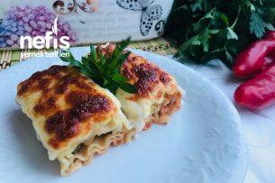 Porsiyonluk Kıymalı Rulo Lazanya (İster Yemek İster Börek) Tarifi