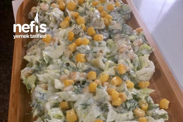 Yoğurtlu Göbek Salatası Tarifi