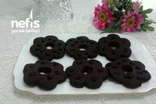 Çikolatalı Çiçek Kurabiye Tarifi
