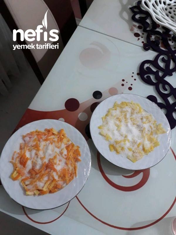 Ev Yapımı Portakal Ve Limon Şekeri Aroması