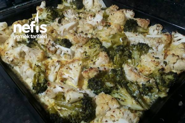 Fırında Yumurtalı  Brokoli Ve Karnabahar Tarifi