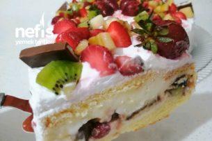 Meyveli Yaş Pasta (İnanılmaz Lezzetli) Tarifi