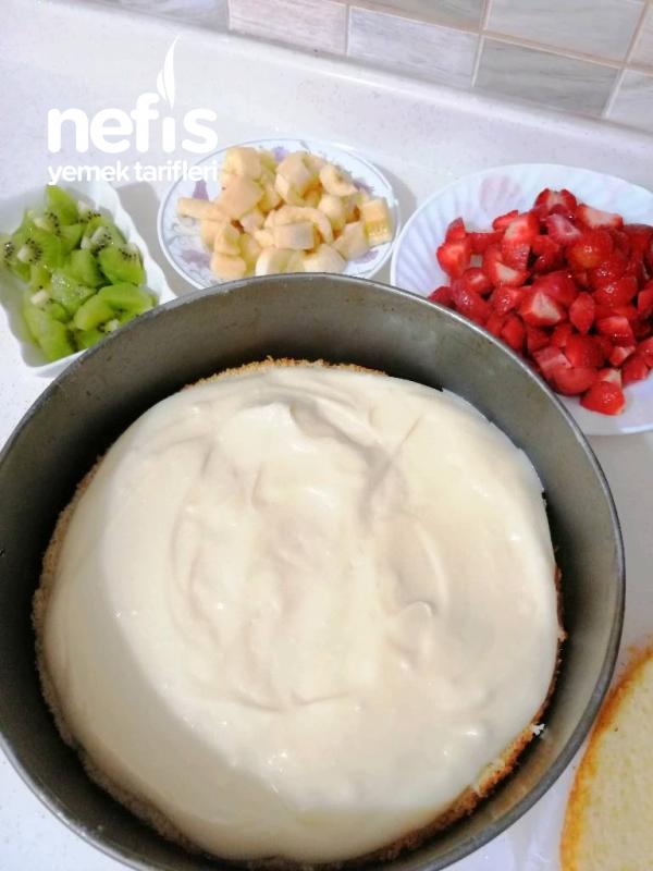 Meyveli Yaş Pasta (inanılmaz Lezzetli)