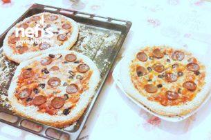4 Adet Susamlı Pizza (Lezzetli Hamuruyla) Tarifi