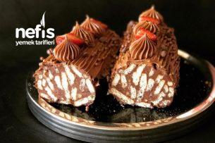Bisküviden Kütük Pasta Tarifi