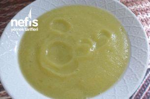Tavuk Sulu Kabak Çorbası 8  Tarifi