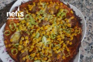 Hamur Yoğurmadan Lavaş Pizza Tarifi