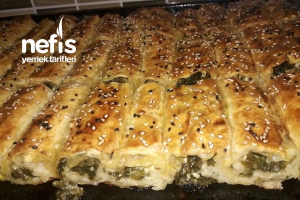 Ispanaklı Peynirli Pratik Yufka Böreği Tarifi