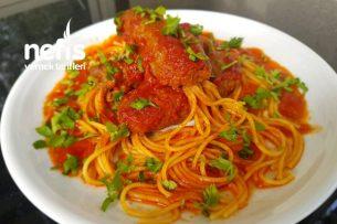Muhteşem Damak Çatlatan Köfteli Spagetti Tarifi