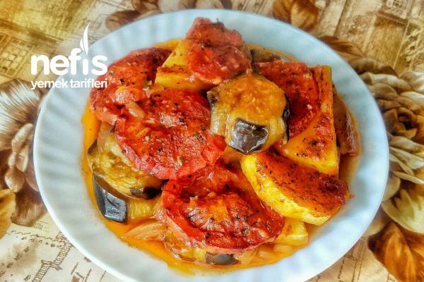 Fırında Patlıcan Ve Patates Yemeği Tarifi