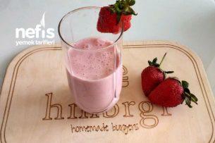 Çilekli Milkshake (Yaz Aylarında Ev Yapımı İçecekleri Kimler Seviyor) Tarifi