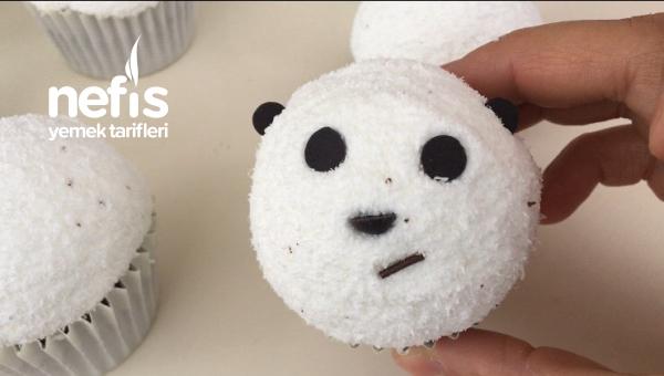 Panda Şekilli Cupcek ( Videolu )