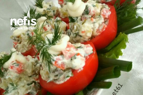 Domates Çanağında Patates Salatası Tarifi