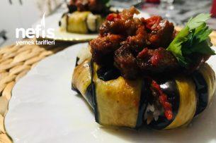 Pilavlı Patlıcan Kapama Tarifi