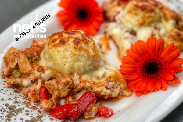 Tavuklu Beşamel Soslu Patates Topları Tarifi