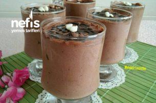 Yumurtasız Çikolatalı Mousse (3 Malzemeli) Tarifi