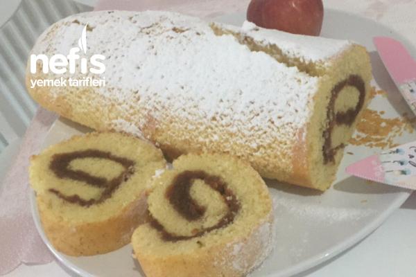 Elmalı Pamuk Gibi Rulo Pasta Tarifi