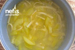 Erişteli Kabak Çorbası Bebekler İçini 8+ Tarifi