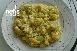 Yumurtalı Kabak (Mükemmel Kolay Pratik Diyet Kahvaltısı) Tarifi