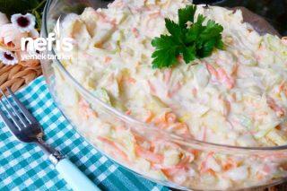 10 Dakikada Yedikçe Yediren Beyaz Lahana Salatası (Coleslaw) Tarifi