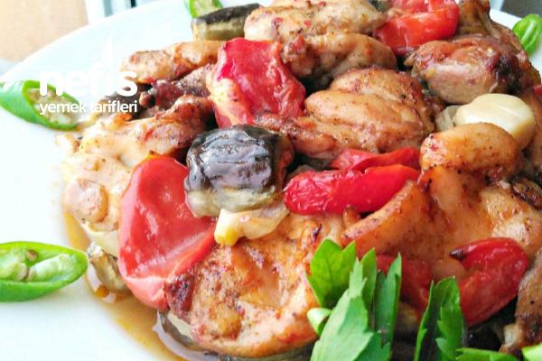 Nefis Sebzeli Tavuk Kebabı (Parmak Yedirten Cinsten)