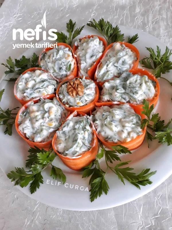 Şık Sunumlu Semizotu Salatası